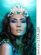 Купить «Русалка с короной из кораллов», фото № 2514229, снято 26 февраля 2011 г. (c) Сергей Новиков / Фотобанк Лори