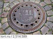 Купить «Прага. Канализационный люк.», фото № 2514589, снято 21 мая 2008 г. (c) Юлия Батурина / Фотобанк Лори