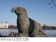 Купить «Калининград. Скульптура морского слона у Верхнего пруда», фото № 2521129, снято 8 марта 2011 г. (c) Наталья Белотелова / Фотобанк Лори