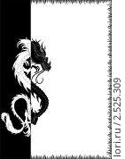 Купить «Черно-белый дракон», иллюстрация № 2525309 (c) Юлия Русских / Фотобанк Лори