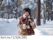 Купить «Пожилая женщина в зимнем парке», фото № 2526585, снято 16 февраля 2011 г. (c) Яков Филимонов / Фотобанк Лори