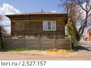 Купить «Старинный деревянный казачий курень с металлопластиковым окном», фото № 2527157, снято 1 мая 2011 г. (c) Борис Панасюк / Фотобанк Лори