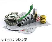 Купить «Бизнес-диаграмма и пачки денег», иллюстрация № 2540049 (c) Юдин Владимир / Фотобанк Лори