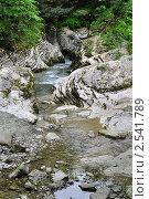 Мокрый каньон реки Псахо (2011 год). Редакционное фото, фотограф Анна Мартынова / Фотобанк Лори