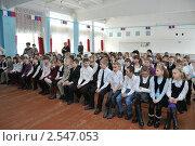 В школьном актовом зале (2011 год). Редакционное фото, фотограф Free Wind / Фотобанк Лори