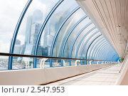 """Купить «Интерьер торгово-пешеходного моста """"Багратион"""". Москва», фото № 2547953, снято 22 мая 2011 г. (c) E. O. / Фотобанк Лори"""