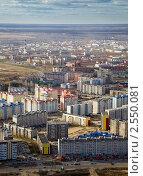 Вид на город Нефтеюганск с высоты птичьего полета (2011 год). Стоковое фото, фотограф Владимир Мельников / Фотобанк Лори