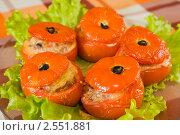 Купить «Фаршированные помидоры», фото № 2551881, снято 14 ноября 2010 г. (c) Яков Филимонов / Фотобанк Лори