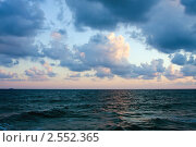 Морской пейзаж, Вечерний закат, Греция, остров Крит (2010 год). Стоковое фото, фотограф ElenArt / Фотобанк Лори