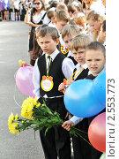 Купить «На торжественной линейке в школе», фото № 2553773, снято 24 мая 2011 г. (c) Федор Королевский / Фотобанк Лори