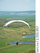 Полет на параплане. Стоковое фото, фотограф Николай Бирюков / Фотобанк Лори