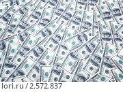 Купить «Фон из долларов», фото № 2572837, снято 23 февраля 2020 г. (c) Elnur / Фотобанк Лори