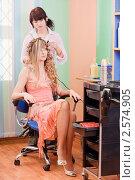 Девушка в парикмахерской. Стоковое фото, фотограф Майя Крученкова / Фотобанк Лори