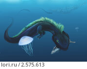 Купить «Черный водяной дракон - символ года 2012», иллюстрация № 2575613 (c) Анна Николаева / Фотобанк Лори