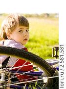 Укрощение двухколесного друга. Стоковое фото, фотограф Ольга Шабалкина / Фотобанк Лори