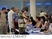 Купить «Соискатели проходят собеседование на ярмарке вакансий в центре занятости», эксклюзивное фото № 2583477, снято 8 июня 2011 г. (c) Анна Мартынова / Фотобанк Лори