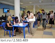 Купить «Подбор вакансий на бирже труда», эксклюзивное фото № 2583489, снято 8 июня 2011 г. (c) Анна Мартынова / Фотобанк Лори