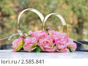 Купить «Свадебное украшение на автомобиле», фото № 2585841, снято 14 августа 2010 г. (c) Александр Михалёв / Фотобанк Лори