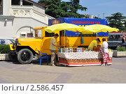 Купить «Уличная торговля краснодарским чаем с машины от фабрики», фото № 2586457, снято 10 июня 2011 г. (c) Анна Мартынова / Фотобанк Лори