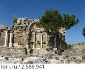 Монументальный фонтан (Нимфей),  Сиде, Турция (2010 год). Стоковое фото, фотограф Александр Верховцев / Фотобанк Лори