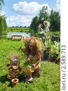 Купить «Ведьма из сказки на фестивале флористики», фото № 2589713, снято 4 июля 2010 г. (c) ElenArt / Фотобанк Лори