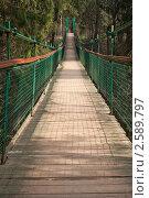 Купить «Подвесной мост», фото № 2589797, снято 7 мая 2011 г. (c) Цветков Виталий / Фотобанк Лори