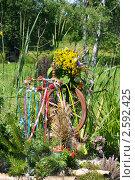 Купить «Фестиваль флористики « Цветень», букеты и композиции из цветов на фоне природы», фото № 2592425, снято 4 июля 2010 г. (c) ElenArt / Фотобанк Лори