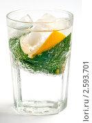 Освежающий напиток с мятой и лимоном. Стоковое фото, фотограф Мария Исаченко / Фотобанк Лори