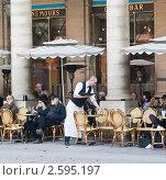 Купить «Уличное кафе. Париж», фото № 2595197, снято 13 октября 2010 г. (c) Николай Коржов / Фотобанк Лори
