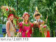 Купить «Девушки в костюмах из цветов на фестивале флористики « Цветень»», фото № 2601113, снято 4 июля 2010 г. (c) ElenArt / Фотобанк Лори