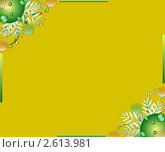 Декоративный фон с листьями. Стоковая иллюстрация, иллюстратор Поздеева Наталья / Фотобанк Лори