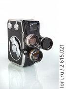 Старинная пленочная кинокамера. Стоковое фото, фотограф Александр Кадацкий / Фотобанк Лори