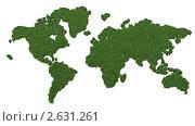 Купить «Зеленая карта мира», иллюстрация № 2631261 (c) Марат Утимишев / Фотобанк Лори