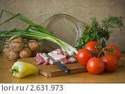 Натюрморт с мясом. Стоковое фото, фотограф Татьяна Малинич / Фотобанк Лори