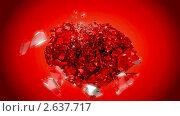 Купить «Взрыв сердца. Замедленное движение», видеоролик № 2637717, снято 19 апреля 2010 г. (c) Арсений Герасименко / Фотобанк Лори