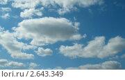 Купить «Плывущие облака. Таймлапс», видеоролик № 2643349, снято 27 апреля 2011 г. (c) Михаил Коханчиков / Фотобанк Лори
