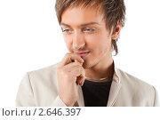 Портрет задумчивого молодого мужчины. Стоковое фото, фотограф Маргарита Бородина / Фотобанк Лори