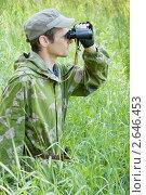 Наблюдатель в траве. Стоковое фото, фотограф Александр Романов / Фотобанк Лори