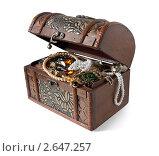 Купить «Ювелирные украшения в сундуке», фото № 2647257, снято 23 февраля 2009 г. (c) Яков Филимонов / Фотобанк Лори