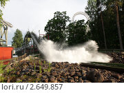 Купить «Аттракционы в парке развлечений Särkänniemi в Тампере. Финляндия», фото № 2649857, снято 12 июня 2011 г. (c) Наталья Белотелова / Фотобанк Лори