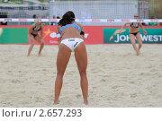 Соревнования по пляжному волейболу на Поклонной горе в Москве (2011 год). Редакционное фото, фотограф Петр Крупенников / Фотобанк Лори