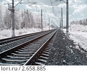 Купить «Железная дорога», фото № 2658885, снято 24 июня 2010 г. (c) Parmenov Pavel / Фотобанк Лори