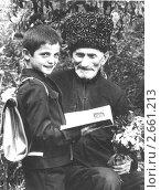 Чечня до войны. В первый класс с прадедом. Редакционное фото, фотограф Артур Батчаев / Фотобанк Лори