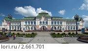 Купить «Хабаровск. Железнодорожный вокзал.», фото № 2661701, снято 15 июля 2011 г. (c) Сергей Балдин / Фотобанк Лори