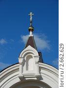Купить «Церковь Георгия Победоносца в Егорьевске (старообрядческая). Фрагмент церковных ворот», эксклюзивное фото № 2662629, снято 6 июля 2011 г. (c) lana1501 / Фотобанк Лори