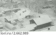 Купить «Зимний деревенский пейзаж», видеоролик № 2662989, снято 27 декабря 2010 г. (c) Игорь Жоров / Фотобанк Лори
