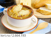 Купить «Луковый суп с гренками», эксклюзивное фото № 2664193, снято 23 июня 2011 г. (c) Александр Курлович / Фотобанк Лори