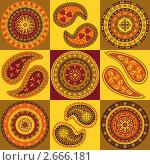 Купить «Индийский орнамент», иллюстрация № 2666181 (c) Инна Грязнова / Фотобанк Лори