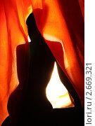 Силуэт  обнаженной девушки. Стоковое фото, фотограф Антонова Мария / Фотобанк Лори