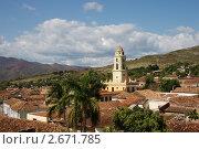 Панорама кубинского города Тринидада. Стоковое фото, фотограф Анатолий Баранов / Фотобанк Лори